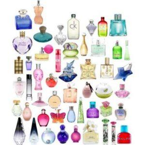 Parfymflaskor i massor